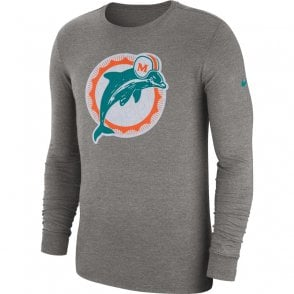 04588bf611a NFL Miami Dolphins Crackle Historic Tri-Blend Long Sleeve T-Shirt